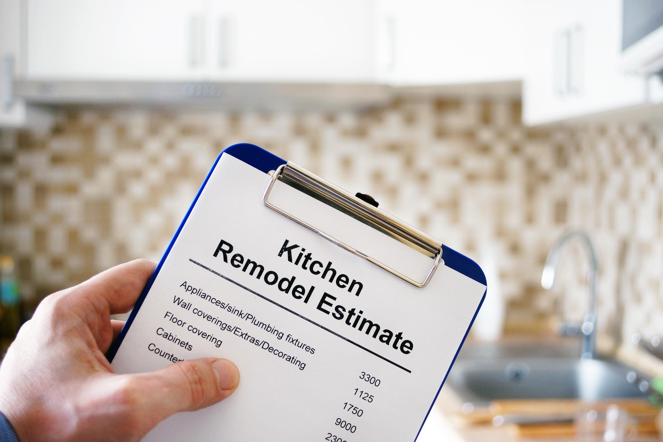 Above Remodeling Kitchen Renovation Estimate Cost of renovation.